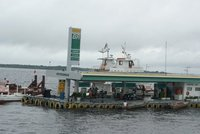 Floating petrol station, Manaus, Amazonia