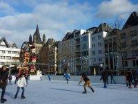 Ice skating in Cologne