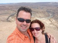 Me and my girl at the Fish River Canyon