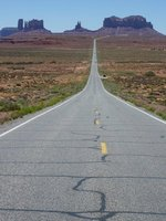 Road through Monument Valley, Utah