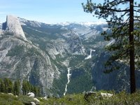 Spectactular view from Glacier Point Road, Yosemite NP