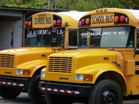 Old American School Buses
