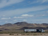 Trucks along California Interstate 40