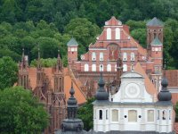 Three churches in one shot, Vilnius