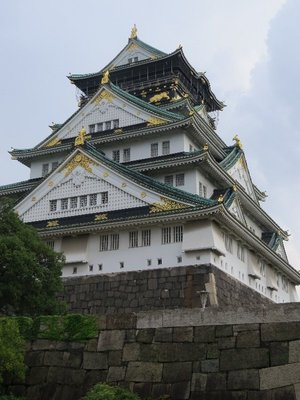 Osaka Castle is a reconstruction of the original 1597 castle.