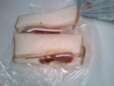 These sandwiches on campus are my favourite... and only about 280 JPY!