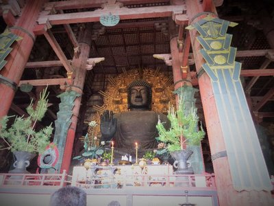 This Buddha in Tōdai-ji Temple is the world's largest bronze statue of the Buddha.