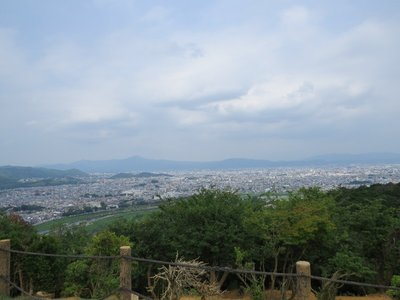 There was a nice view of Kyoto from the top!