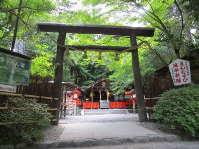 There were a bunch of little temples and shrines near the Bamboo Grove.