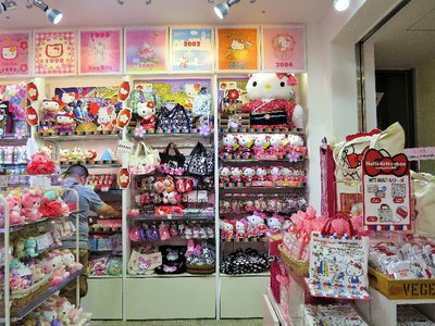 A bunch of Hello Kitty things.