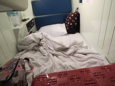 I stayed at a capsule hotel in Osaka the night before my flight.