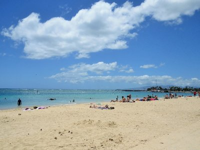 I had a 12 hour layover in Honolulu, so I took the bus to the beach for a few hours.