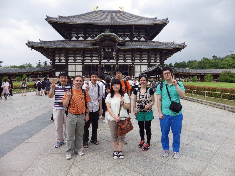We went to the Tōdai-ji, a Buddhist Temple.