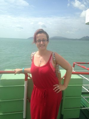 Me on the boat to Koh Phangan