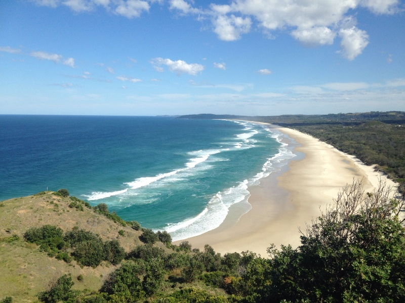 Views of the beach at Byron Bay