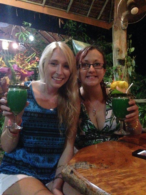 Fay and I at our jungle lodge
