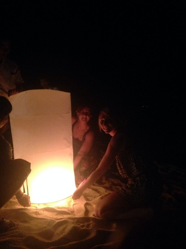 Chinese lanterns on the beach. Hope my wish comes true