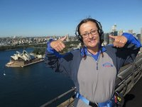 Top of Sydney Harbour Bridge