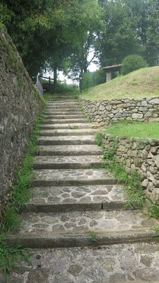 The stairs for my approach