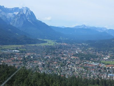 The town below