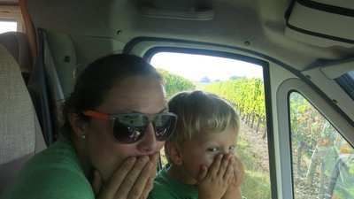 VERY excited to be going to a vineyard!