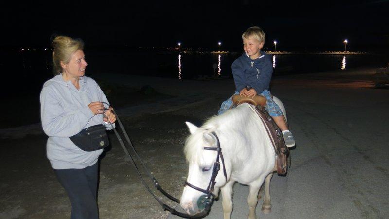 Mylo's first pony ride!
