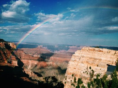 Rainbow at Grand Canyon!