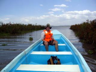 Boat on Lake Naivasha