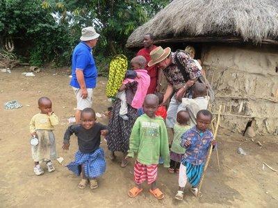 Children in a Masai village, Arusha, Tanzania