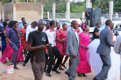 Wedding party and guests, Musoma, Lake Victoria, Tanzania