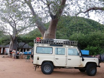 Camping in the Baobab Valley, on the way to Dar es Salaam