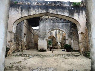 In the ruins of Mtoni Palace, Zanzibar