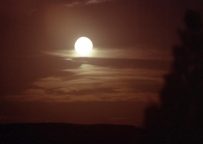 Full moon over Utah