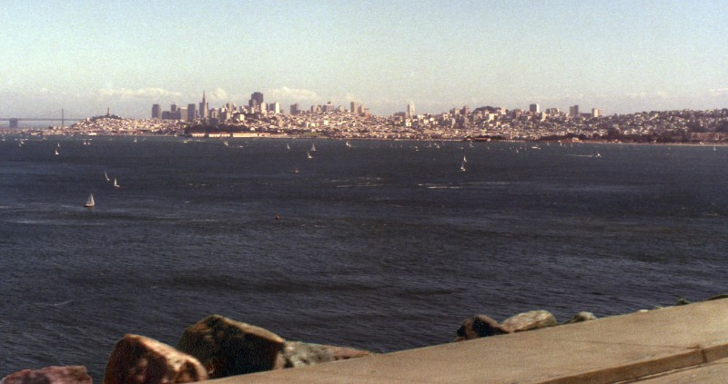 My last view of San Francisco from Sausalito