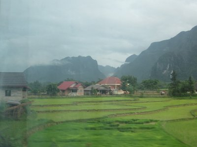 Landscape on the way to Vang Vieng