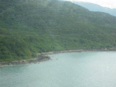 Coast line on the way to Hanoi