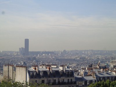 View from Sacre Coeur - The tall tower on the left is and office skyscraper with 59 floors