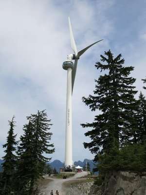 Wind turbine at Grouse Mountain