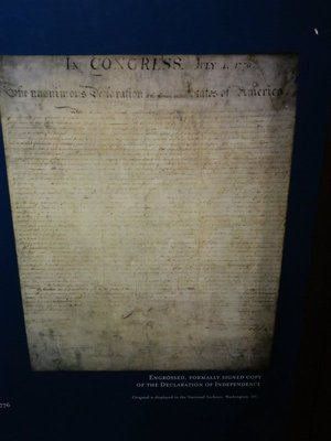 Copy of the signed Declaration of Independence