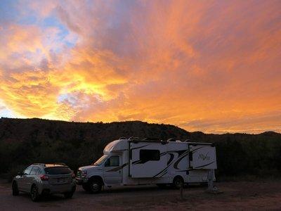 Sunset at Palo Duro Canyon State Park
