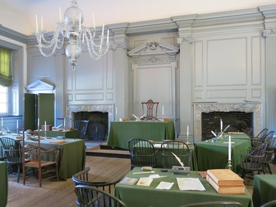 Room where the Declaration of Independence was signed