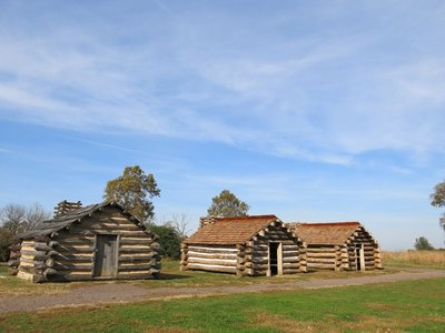 Valley Forge army huts