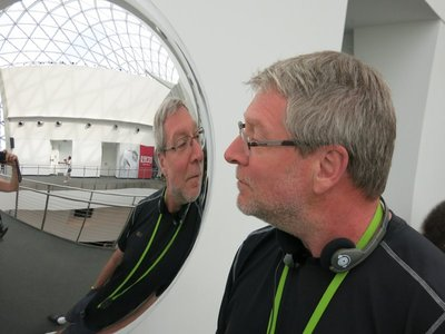 Tim and his reflection