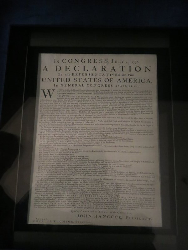 Original print of the Declaration of Independence