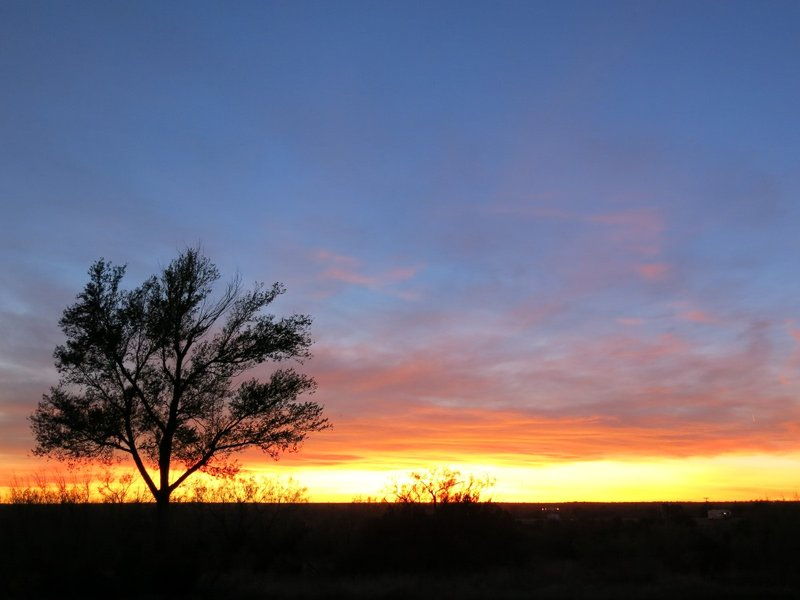 sunset at Palo Duro Canyon State Park