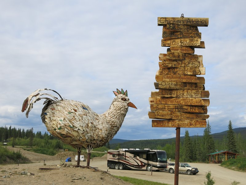 Giant chicken in Chicken Alaska