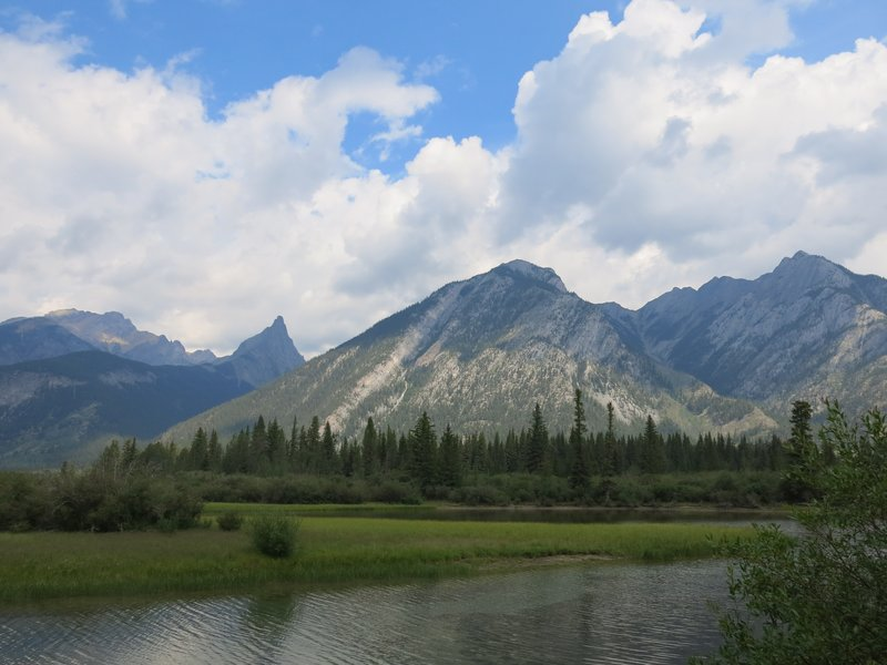 Bow river in Banff