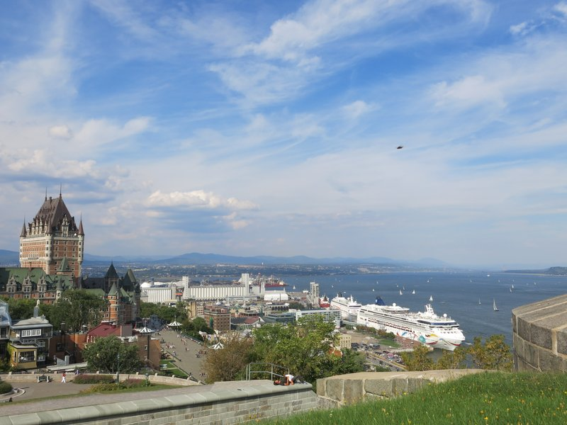 View of the St. Lawrence River from the Citadel