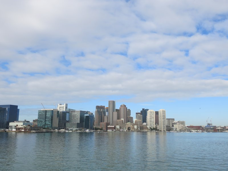 View of Boston  from the ferry