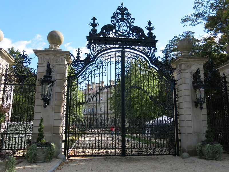 Front gate at the Breakers, the Vanderbilt house